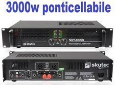 AMPLIFICATORE FINALE DI POTENZA PA 3000w MK2 PROFESSIONALE x casse passive dj