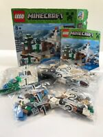 Lego Minecraft The Snow Hideout 21120 Original Opened Box with Two Minifigures