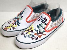 Red By Marc Ecko 1957 Women Size 8 Canvas Loafers Sneakers Floral Design Summer