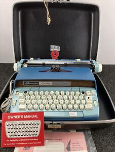 Vintage SCM Smith Corona Coronet Automatic 12 Blue Electronic Typewriter Tested