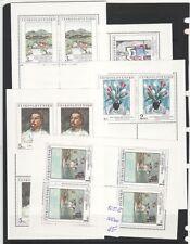 Czechoslovakia Sc 2678-82 NH Minisheets of 1987 - Art