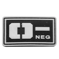 GLOWING Military Blood Type O- Negative Tactical USA Army 3D PVC Patch