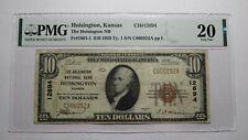 $10 1929 Hoisington Kansas KS National Currency Bank Note Bill Ch. #12694 VF20