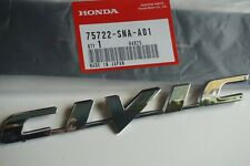 HONDA CIVIC 06-11 Trunk Emblem Rear Badge Nameplate 75722-SNA-A01 logo word SI
