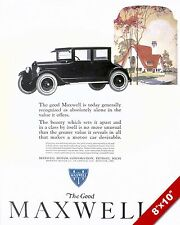 MAXWELL 1922 CLASSIC CAR AMERICAN MADE CARS PAINTING VINTAGE AD ART PRINT
