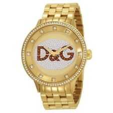 NEW Dolce and Gabanna D&G PRIME TIME Gold Crystal DW0379 Unisex Watch
