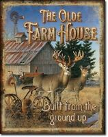 Olde Farmhouse Farming Tractor Farm Cabin Vintage Wall Decor Metal Tin Sign New