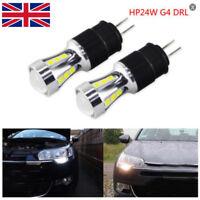 2x HP24W G4 3030 24 LED Side Daytime Running Light DRL For Citroën For Peugeot