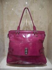 Mulberry Maggie Large Spazzalato Dark Pink Shoulder Bag + Serial No & Care Card