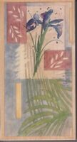 """ferns and iris stamps happen Wood Mounted Rubber Stamp  6 1/2 x 3 1/2"""" Free Ship"""