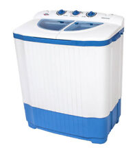 TecTake Miniwaschmaschine - Blau/Weiß