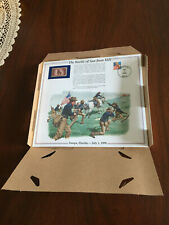 Battle Of San Juan Hill with issued Stamp portrait/painting Theodore Rough Rider