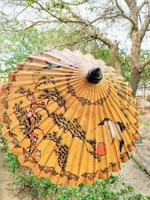 AUTHENTIC VINTAGE 40 YEAR OLD JAPANESE HAND PAINTED UMBRELLA COLLECTION
