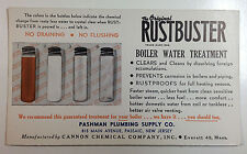 Vintage Rustbuster Boiler Water Treatment Ink Blotter, Cannon Chemical Co.