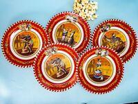 Lot of 5 - Restoration Hardware Tin Circus Plates