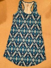 Tehama Blue Print Racer Back Activewear Dress Size Medium Brand New