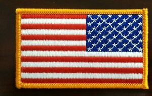 """American flag patch reverse direction 3.5"""" wide reverse direct American flag"""