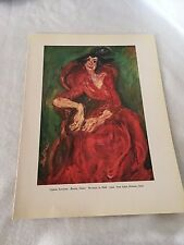 Chaim Soutine Woman in Pink Paul Klee Composition Vintage Art Print 20845
