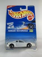 Hot Wheels Vintage Blue Card - #497 Ferrari Testarossa White - BOXED SHIPPING