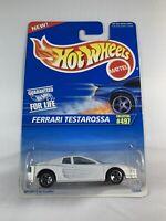 Hot Wheels Vintage Blue Card - #497 Ferrari Testarossa White - BOXED SHIPPING