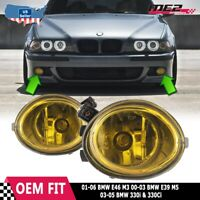For BMW 3 Series E46 M3 01-05 Factory Replacement Fit Fog Lights Yellow Lens