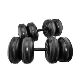 Water Inflated Dumbbells Training Travel Fitness Arm Barbell Kit 25KG Portable