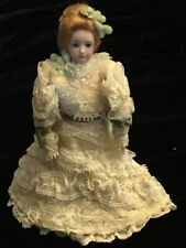 Vintage 1979 Miniature HANDMADE VICTORIAN PORCELAIN WOMAN Dollhouse DOLL NEW