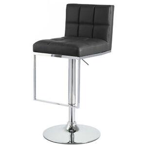 "New! Modern Home ""Leather"" Bar/Counter Stool Adjustable Height - Chrome Barstool"