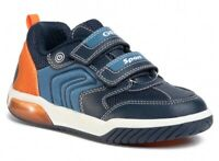 GEOX RESPIRA INEK J949CD scarpe bambino ragazzo sneakers tessuto pelle luci