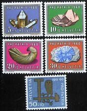 Switzerland - Scott# B292-6 Mint NH - 1960 Set
