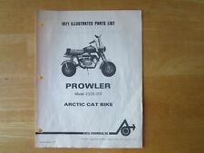 Vintage 1971 Arctic Cat Prowler Parts List Model 2325-001 Mini Bike