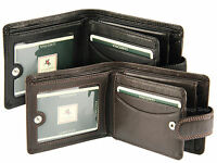 Visconti Mens RFID Blocking Leather Wallet For Notes Credit Cards & Coins - HT10