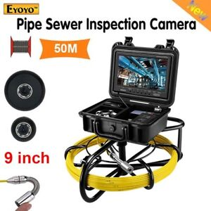 """9"""" 50M Drain Sewer Pipeline Endoscope Inspection Camera Monitor HD Good Quality"""