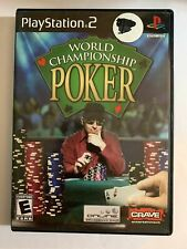 WORLD CHAMPIONSHIP POKER - PS2 - COMPLETE W/ MANUAL - FREE S/H - (T7)