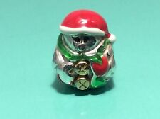 "BRIGHTON ABC Christmas "" Papa Noel"" Snowman Spacer/ Bead CHARM"