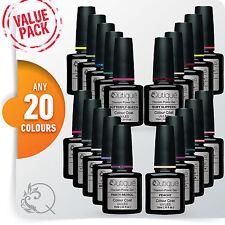 QUTIQUE Gel Nail Polish Colour VALUE Kit/Pack/Set -ANY 20 COLOURS -Pro Quality