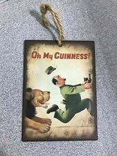 Oh My Guinness Mini Metal Sign Hanging Decoration 80 x 110mm