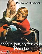 PUBLICITE ADVERTISING 065  1967   PENTO   creme capillaire coiffante
