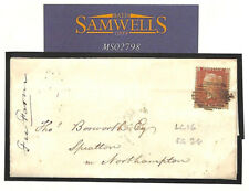 MS2798 1855 GB PENNY RED STARS *LC16* Stamp London Superb Cover SG.26 Cat £225+