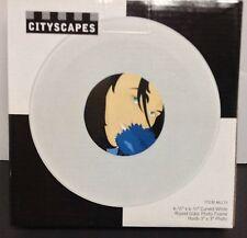"City Scapes Glossy White Curved Photo Frame NIB 6.5"" x 6.5"" Future Sleek"