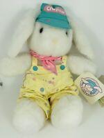 "Vintage 13"" 1989 HALLMARK Crayola Painter BUNNY Rabbit Easter Spring Plush W/Tag"