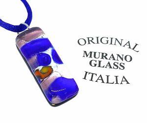 Murano Glass Pendant Murano Glass Jewellery Handmade Glass Pendant 3cm x 1cm