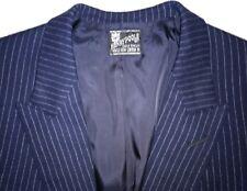 Henry Poole Bespoke Suit Navy Pinstripe Flannel