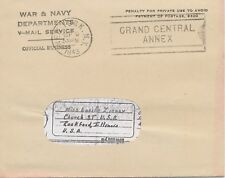 USA 1943, Original-V-Mail-Envelope WAR & NAVY / DEPARTMENTS / V-MAIL SERVICE