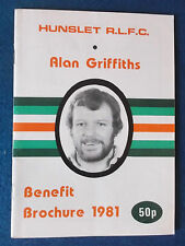 ALAN Griffiths vantaggio BROCHURE 1981. NOMADI Rugby League FC