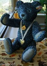 """STEIFF COLLECTION """"FORGET ME NOT"""" PORCELAIN BEAR L/ED. MINT IN BOX 846937-I"""