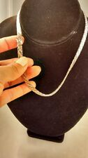Pretty vintage Italy sterling 925  2 tones collar necklace