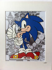 Sonic The Hedgehog - Hand Drawn & Hand Painted Cel
