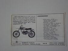 advertising Pubblicità 1969 MOTO MULLER CROSS COMPETIZIONE 125