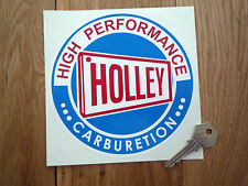 """Holley High Performance Carburetion Round STICKERS 6"""" Pair Racing Car Americana"""